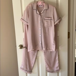Other - Blush Pink Silk Selena Gomez Style Pajamas set